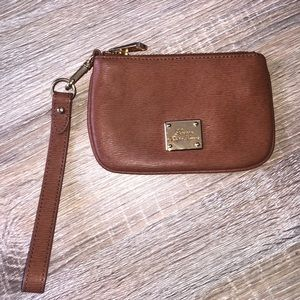 Lauren Ralph Lauren leather wristlet